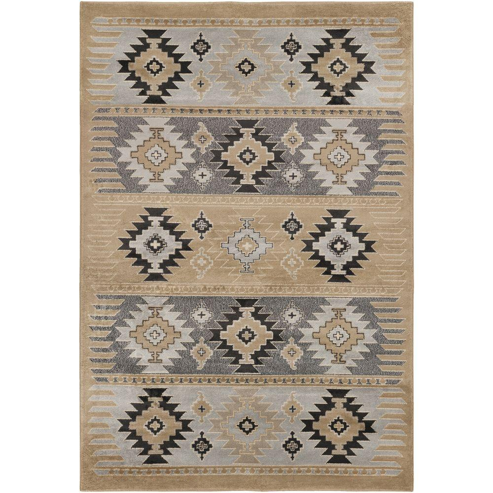Zuata Taupe (Brown) 5 ft. 3 in. x 7 ft. 6 in. Indoor Area Rug