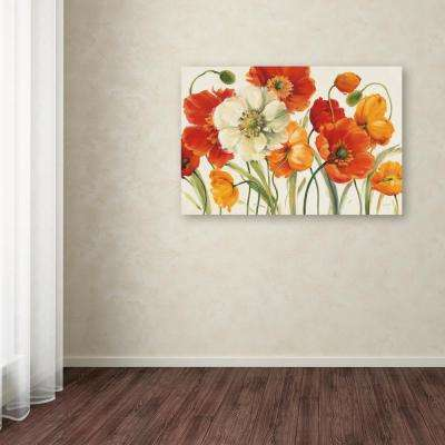 """30 in. x 47 in. """"Poppies Melody I"""" by Lisa Audit Printed Canvas Wall Art"""