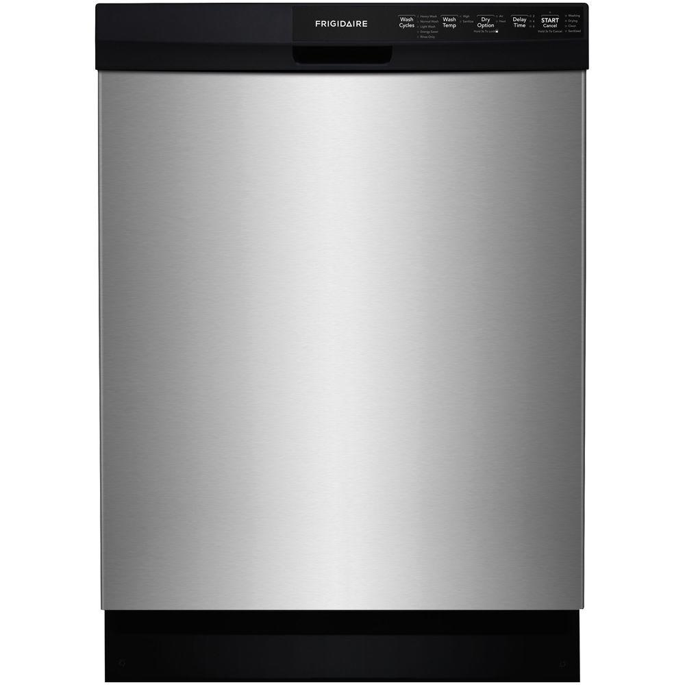 Frigidaire front control dishwasher in stainless steel energy frigidaire front control dishwasher in stainless steel energy star ffbd2412ss the home depot rubansaba