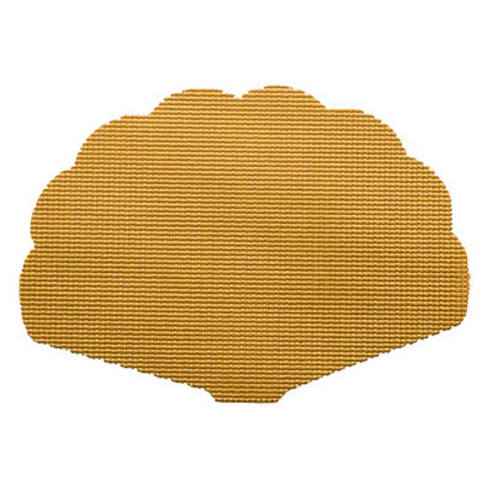 Golden Fishnet Shell Placemat (Set of 12)