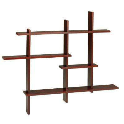 41 in. x 48.5 in. Dark Cherry Deluxe Standard Display Shelf