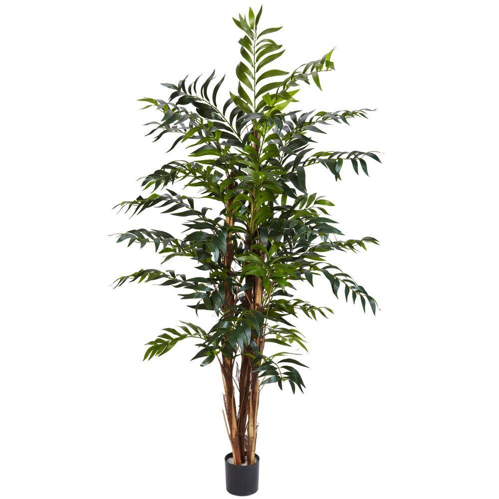 5 ft. Green Bamboo Palm Silk Tree