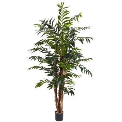 5 ft. Green Bamboo Palm Silk Tree