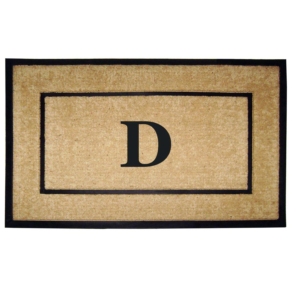 DirtBuster Single Picture Frame Black 30 in. x 48 in. Coir