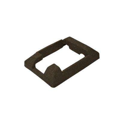 5 in. x 5 in. Dark and Walnut Brown Composite Fence End Post Concrete Bracket Skirt