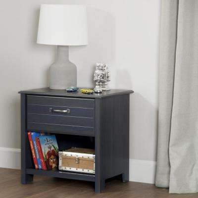 Ulysses 1-Drawer Blueberry Nightstand