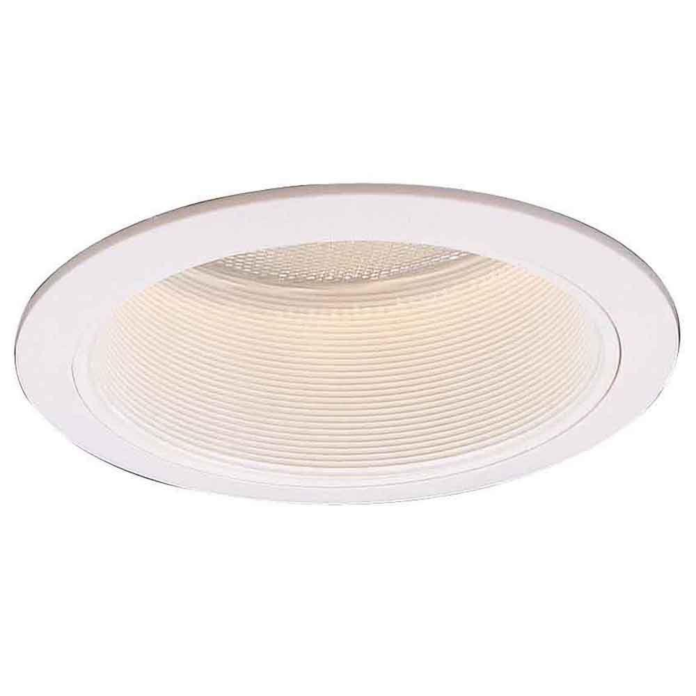 6 in. R40 White Recessed Baffle Trim