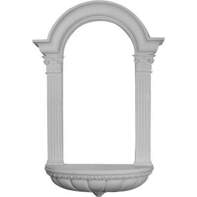 27-1/2 in. x 7-1/4 in. x 45-3/4 in. Primed Polyurethane Surface Mount Hillsborough Wall Niche