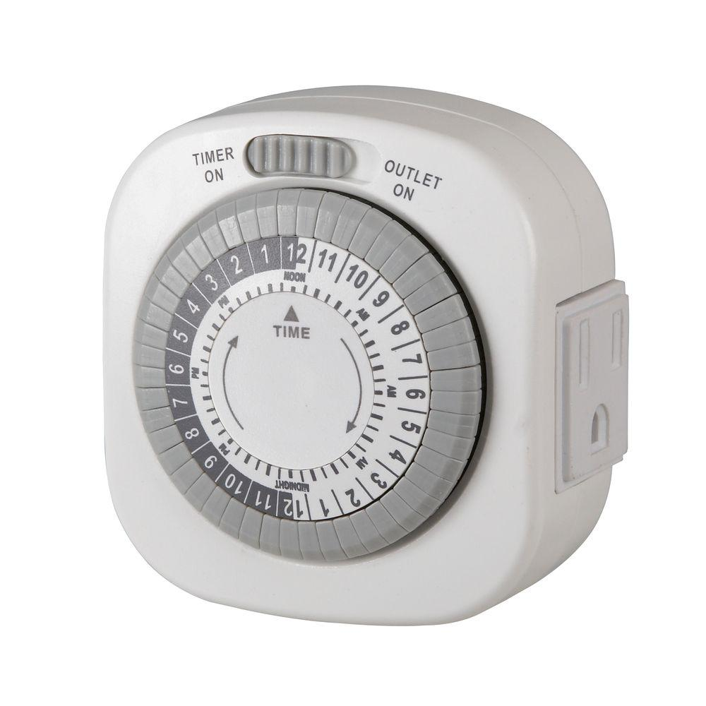 Westek 15 Amp 1-Outlet Indoor Timer-TM77DHB-4