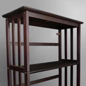 Casual Home Mission Style Espresso Solid Wood 5 Shelf