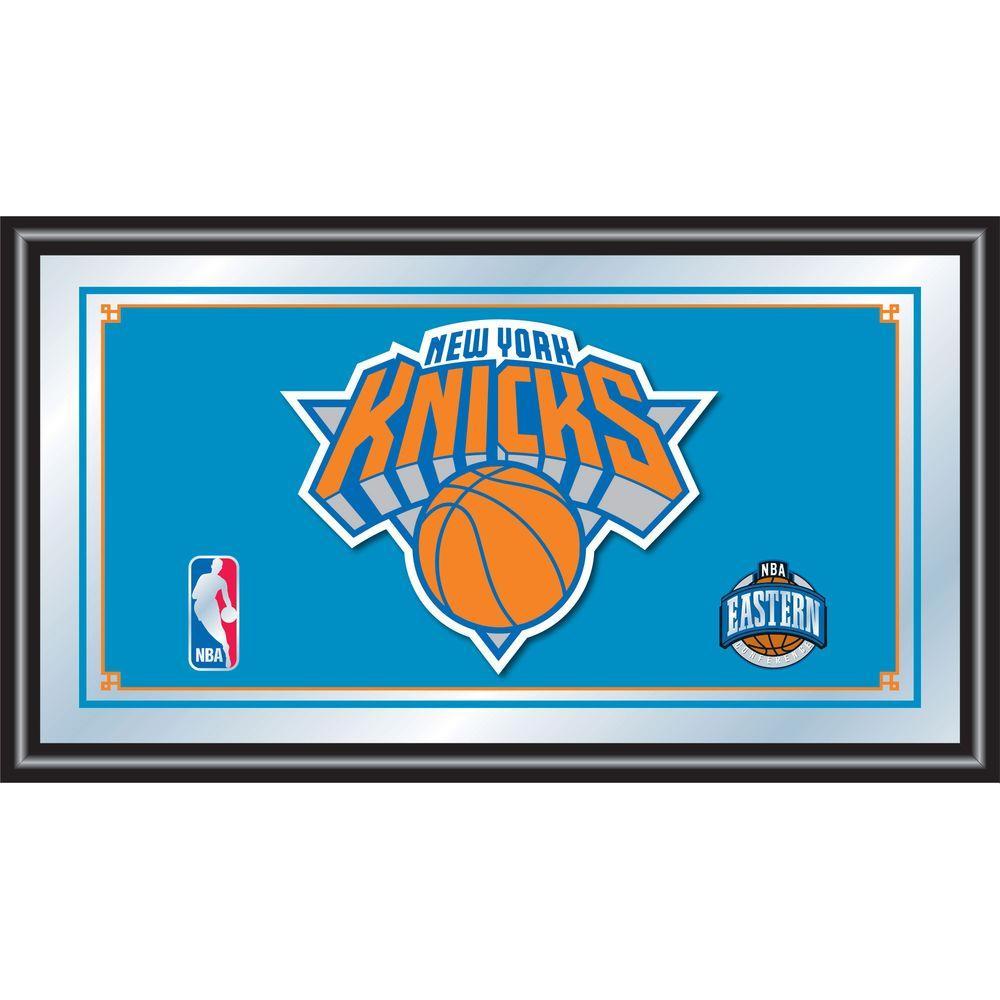 null New York Knicks NBA 15 in. x 26 in. Black Wood Framed Mirror