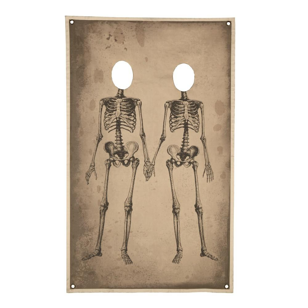 72.75 in. Skeleton Couple Photo Banner