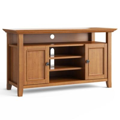 Amherst 54 in. Light Golden Brown Wood TV Stand Fits TVs Up to 60 in. with Storage Doors