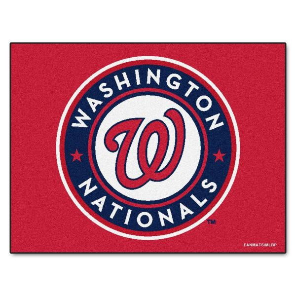 MLB Washington Nationals Red 3 ft. x 4 ft. Indoor Area Rug