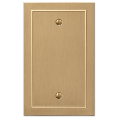 Bethany 1 Gang Blank Metal Wall Plate - Brushed Bronze