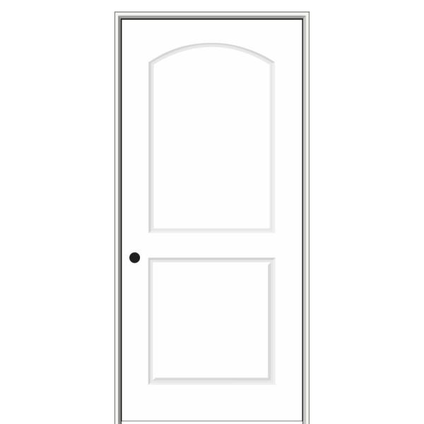 26 in. x 80 in. Smooth Caiman Right-Hand Solid Core Primed Molded Composite Single Prehung Interior Door