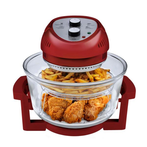 Big Boss 1300 W Red Convection Countertop Oven with Built-In Timer
