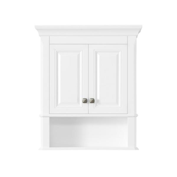 Moorpark 24 in. W Wall Cabinet in White