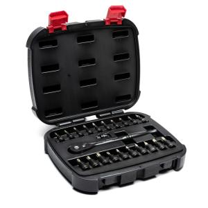 Deals on Husky 1/4 and 3/8 in Diamond Bit Ratchet and Socket Set 22-Pc
