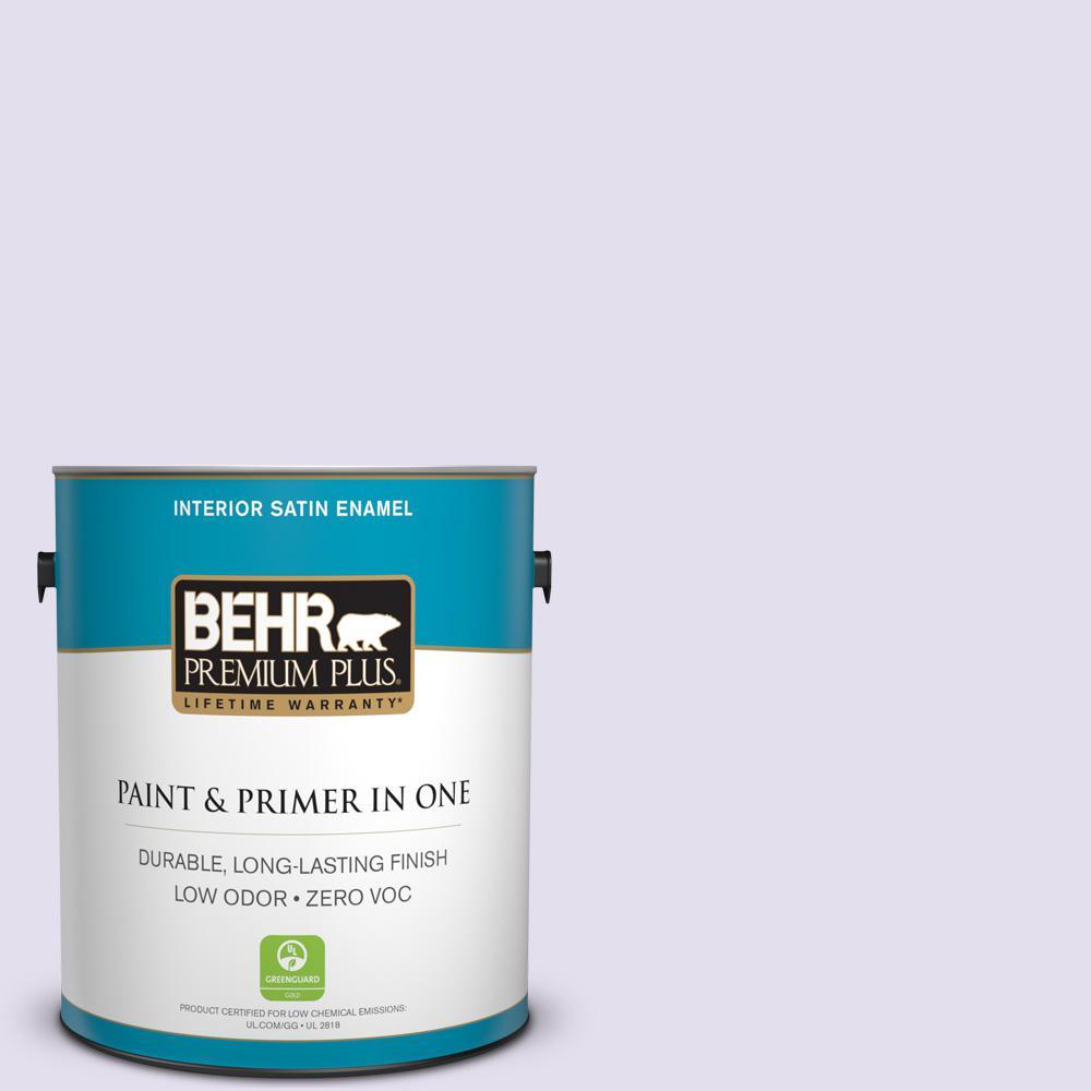 BEHR Premium Plus 1-gal. #650C-2 Powdery Mist Zero VOC Satin Enamel Interior Paint