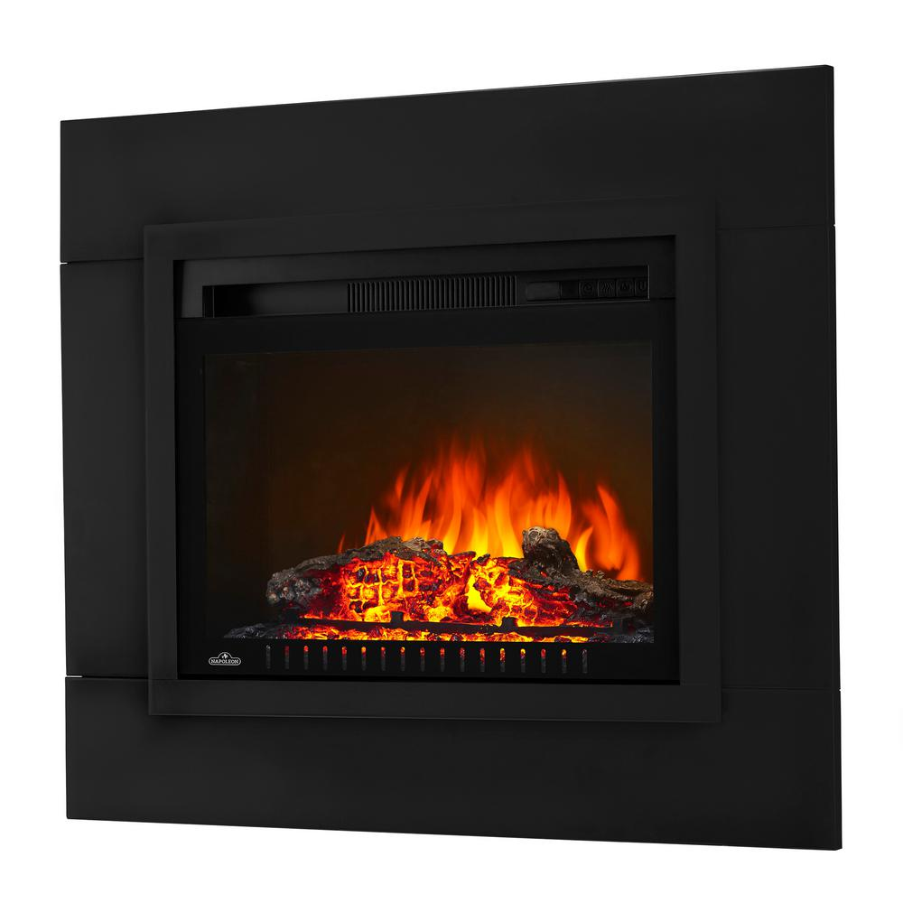 24 in electric log fireplace insert with trim kit nefp24ht hd the rh homedepot com gas log fireplace inserts near me gas log fireplace inserts ventless