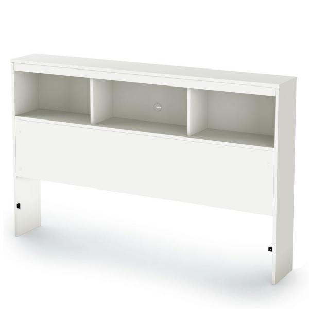 Spark Full-Size Bookcase Headboard in Pure White