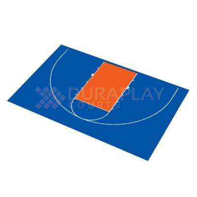 45 ft. 6 in. x 29 ft. 7 in. Half Court Basketball Kit