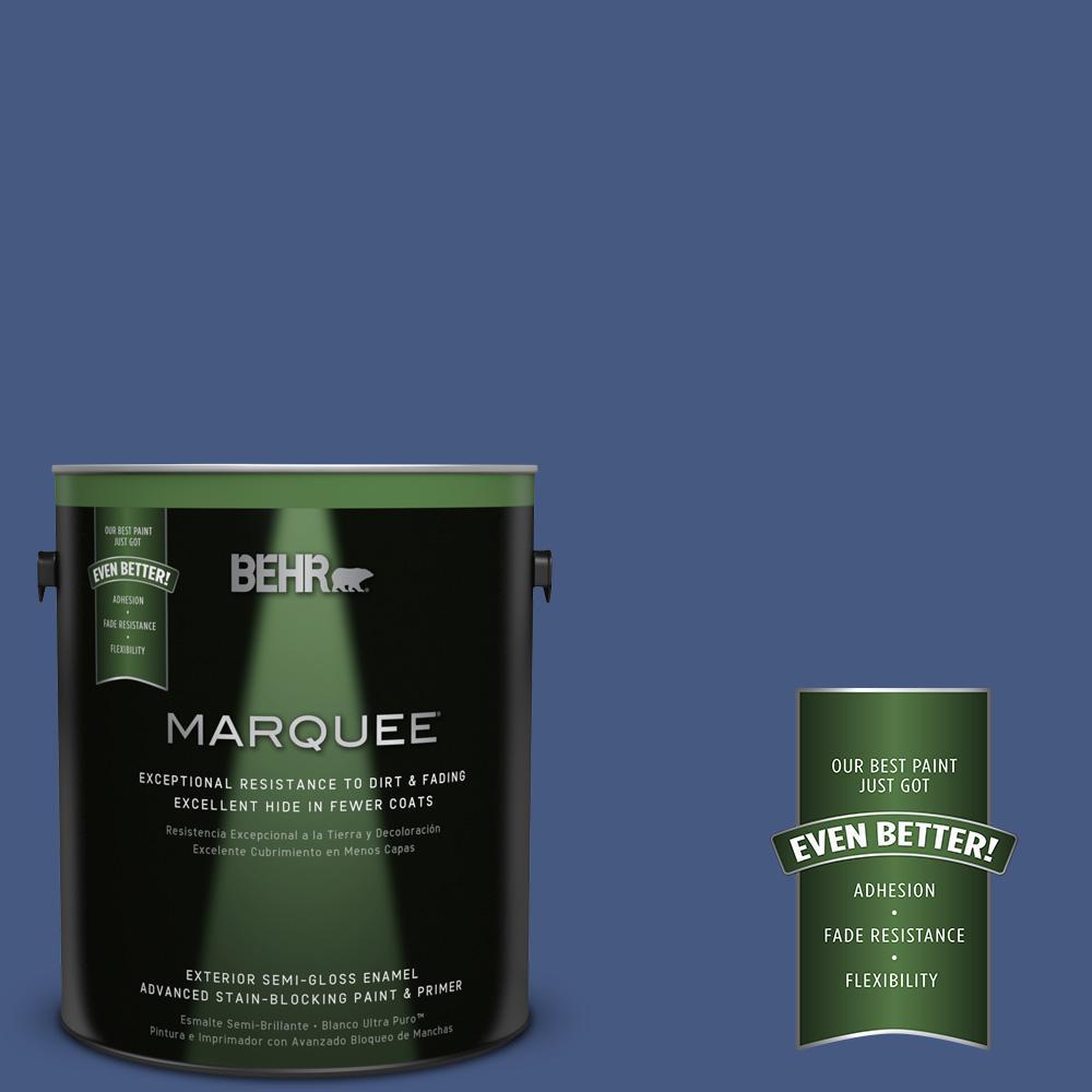 1-gal. #M540-7 Optimum Blue Semi-Gloss Enamel Exterior Paint