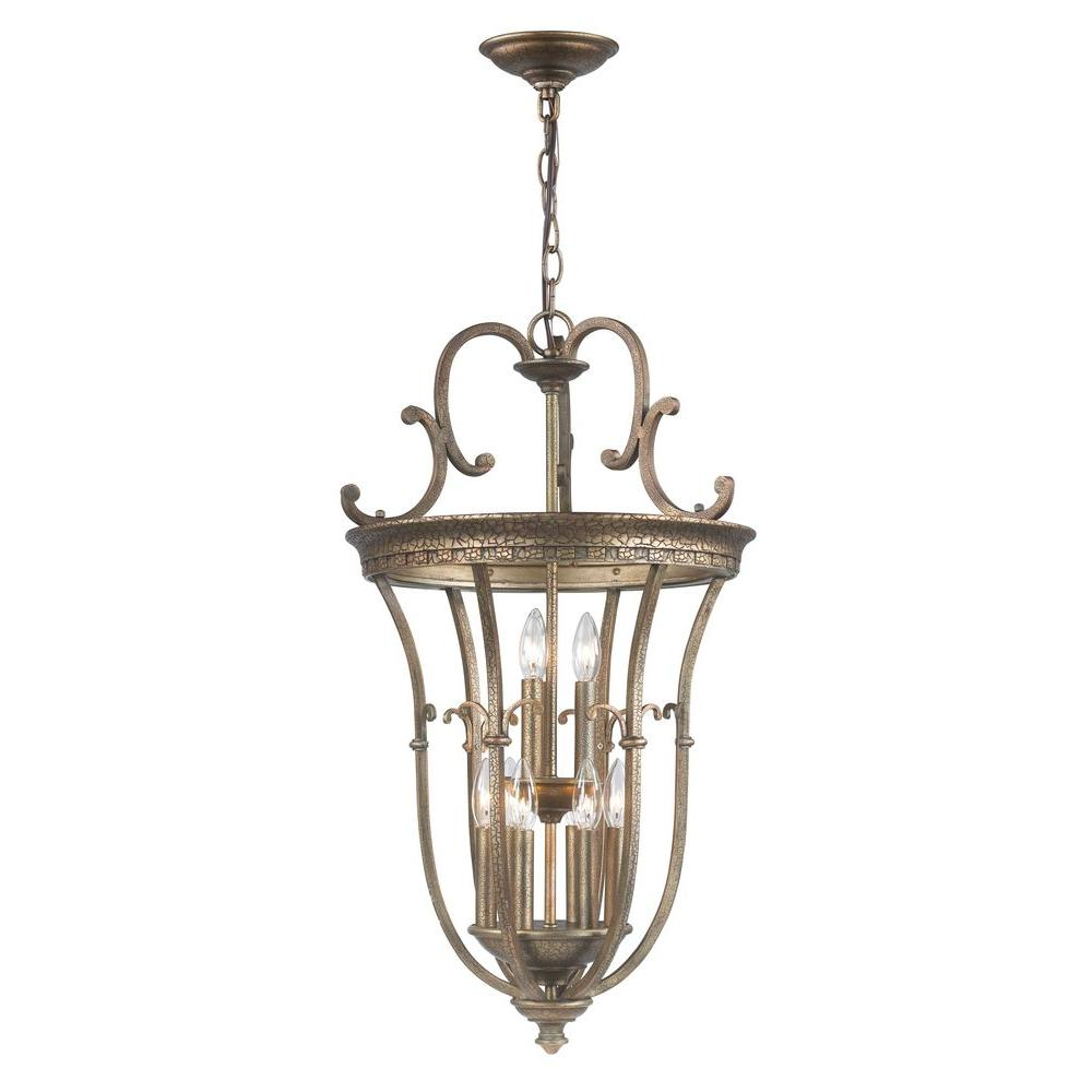 World Imports 9-Light Distressed Brass Pendant was $421.71 now $192.05 (54.0% off)