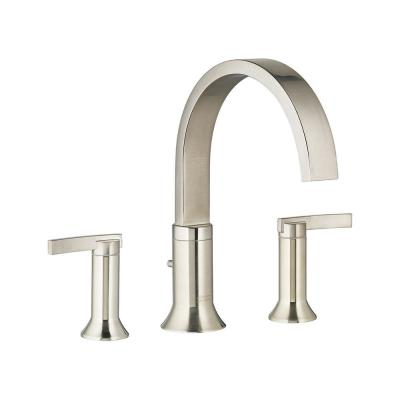 Berwick 2-Handle Deck-Mount Roman Tub Faucet for Flash Rough-in Valves in Brushed Nickel