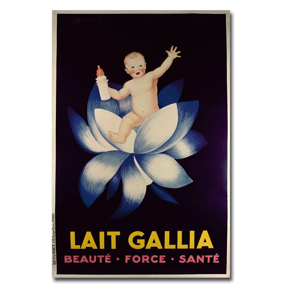 Trademark Fine Art 22 in. x 32 in. Lait Gallia 1931 Canvas Art