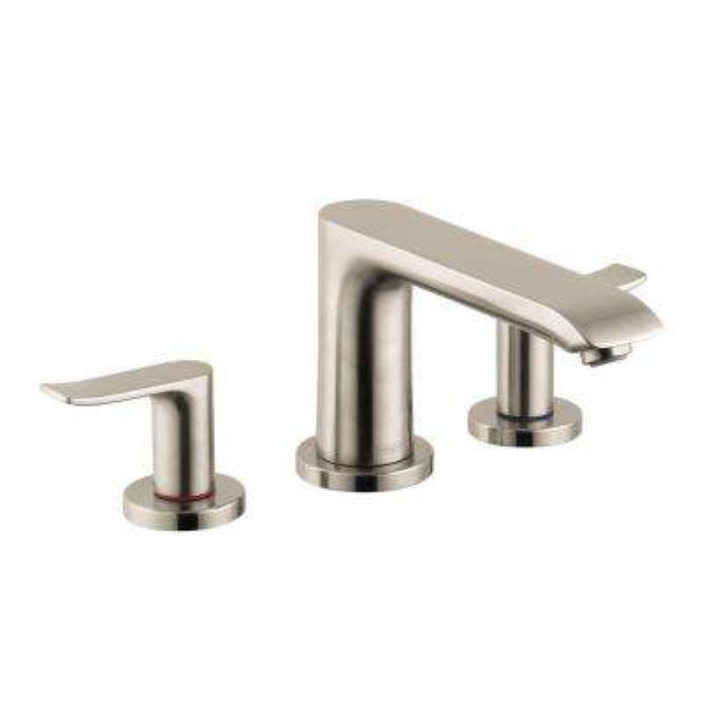 Metris 2-Handle Deck-Mount Roman Tub Faucet Trim Kit in Brushed Nickel (Valve Not Included)