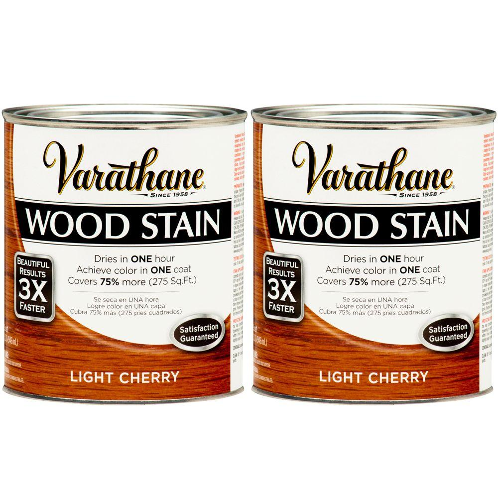Varathane 1 Qt. Light Cherry Wood Stain (2-Pack)-DISCONTINUED