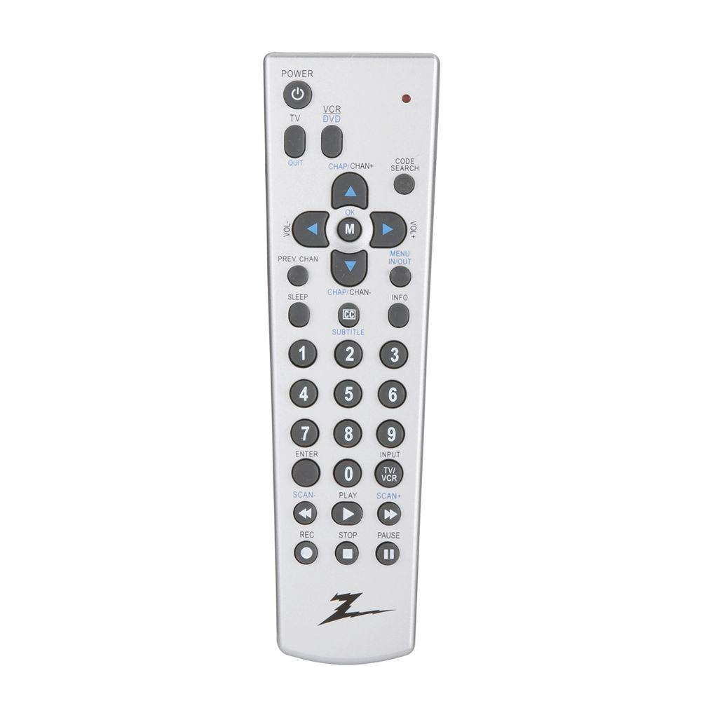 Zenith 2-Device TV, DVD and VCR Scan Remote Control - Silver