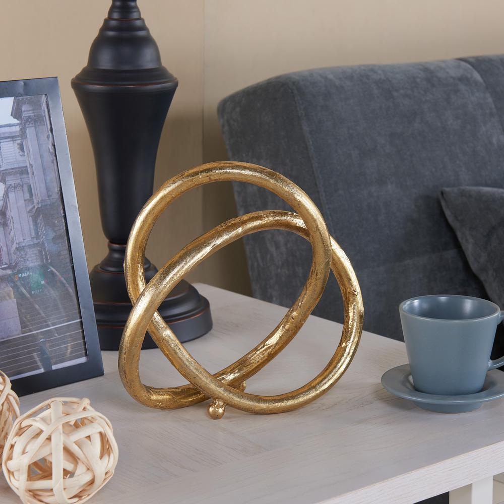Gold Eternal Loop Metal Sculpture