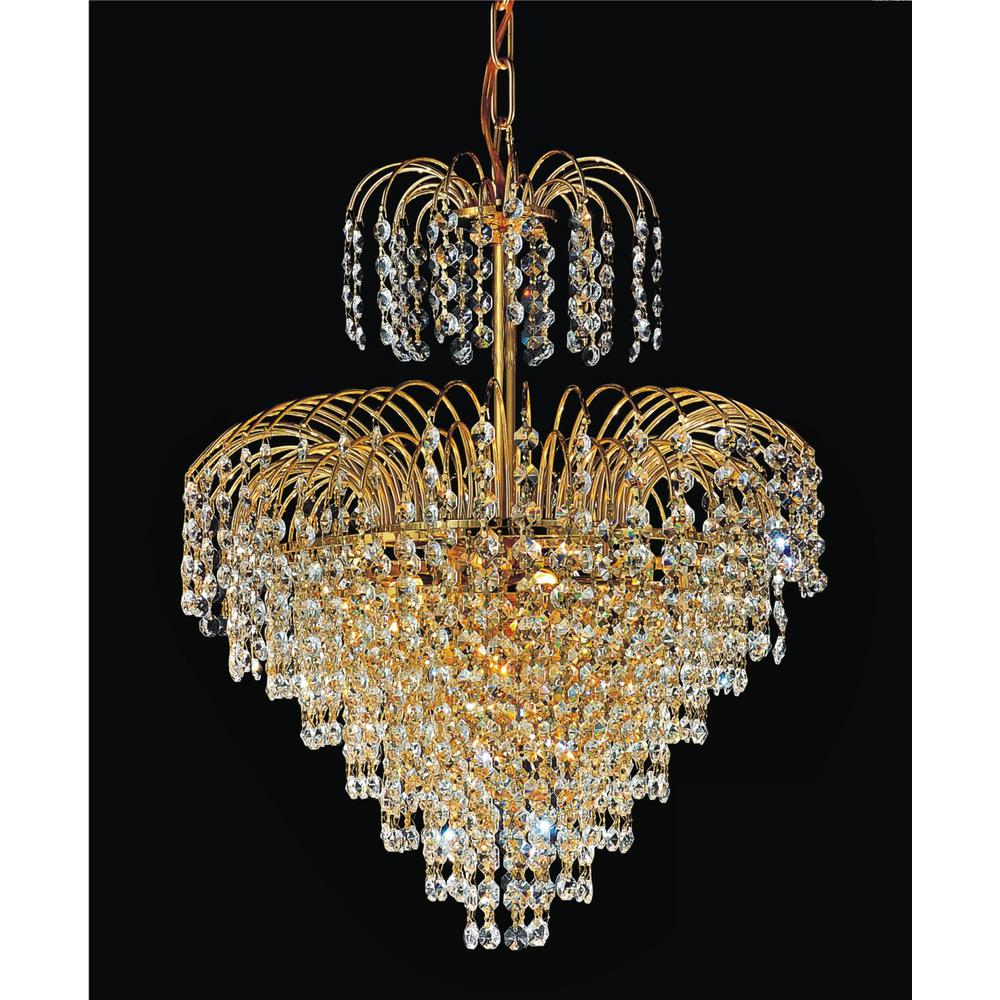 Cwi Lighting Palm Tree 8 Light Gold Chandelier