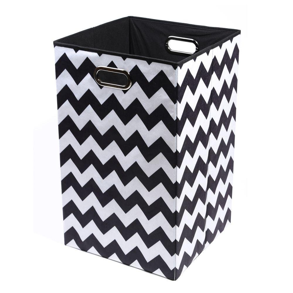 Bold Chevron Folding Laundry Basket