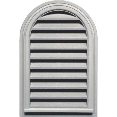 22 in. x 32 in. Round Top Gable Vent in Paintable