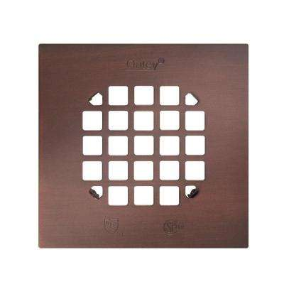 4-1/4 in. Snap-Tite Square Strainer, Rubbed Bronze