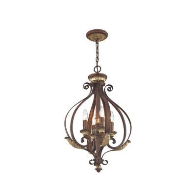 Vintage Style Rustic Aged Gold Scroll /& Leaves Candelabra Indoor Wall Light Lamp