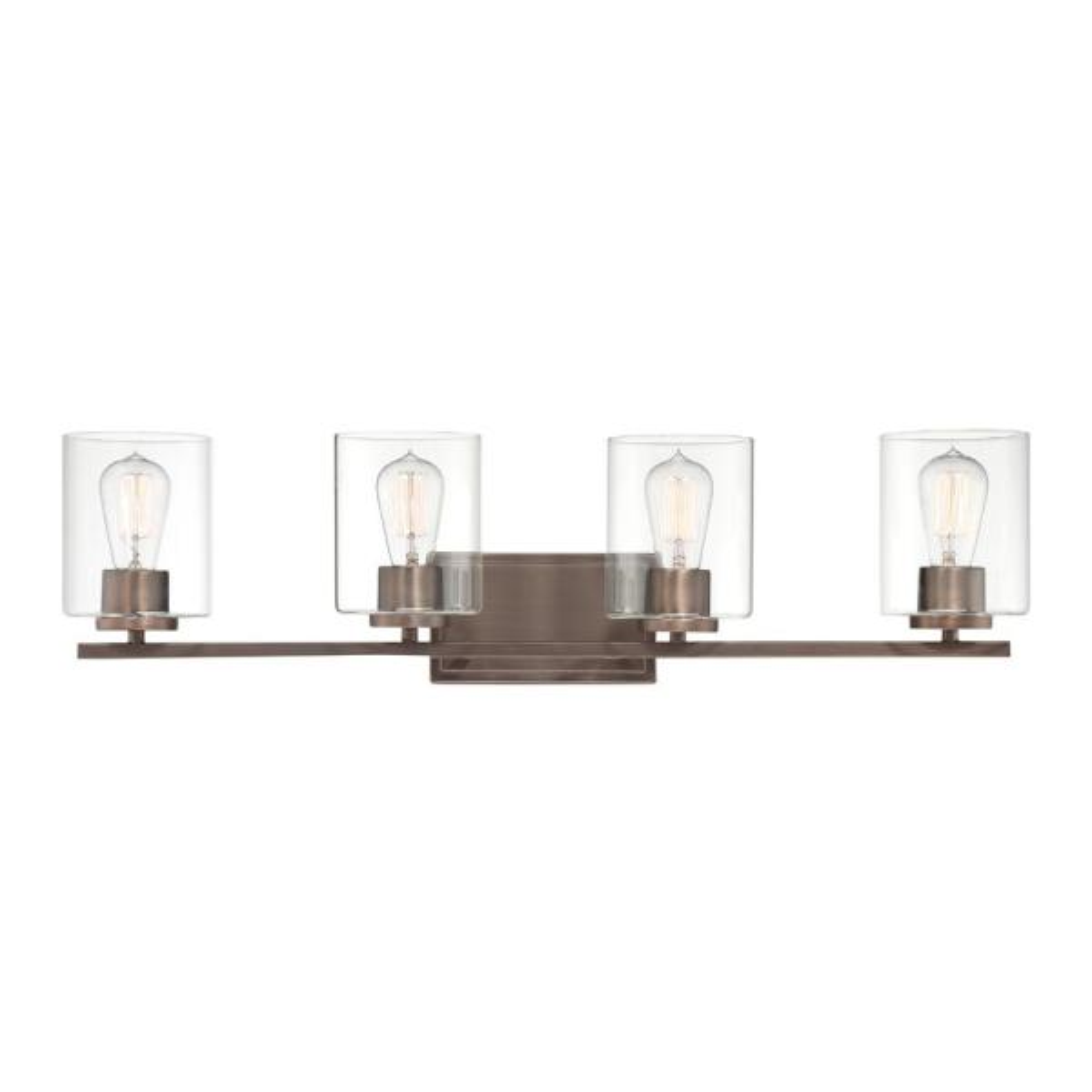 Liam 4-Light Satin Copper Bronze Bath Bar Vanity Light