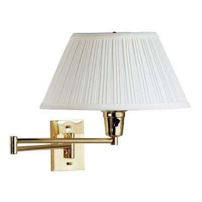 Swing arm lamps lamps the home depot element polished brass wall swing arm lamp aloadofball Image collections