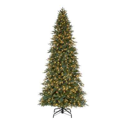 10 ft. Pre-Lit LED Meadow Fir Quick Set Artificial Christmas Tree with 900 Warm White Lights