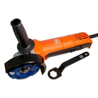 7 Amp Corded 4.5 in. Angle Grinder with Holey Galahad Round Coarse Blue