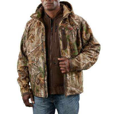 Large M12 Cordless Lithium-Ion Realtree Xtra Camo 3-in-1 Heated Jacket (Jacket Only)
