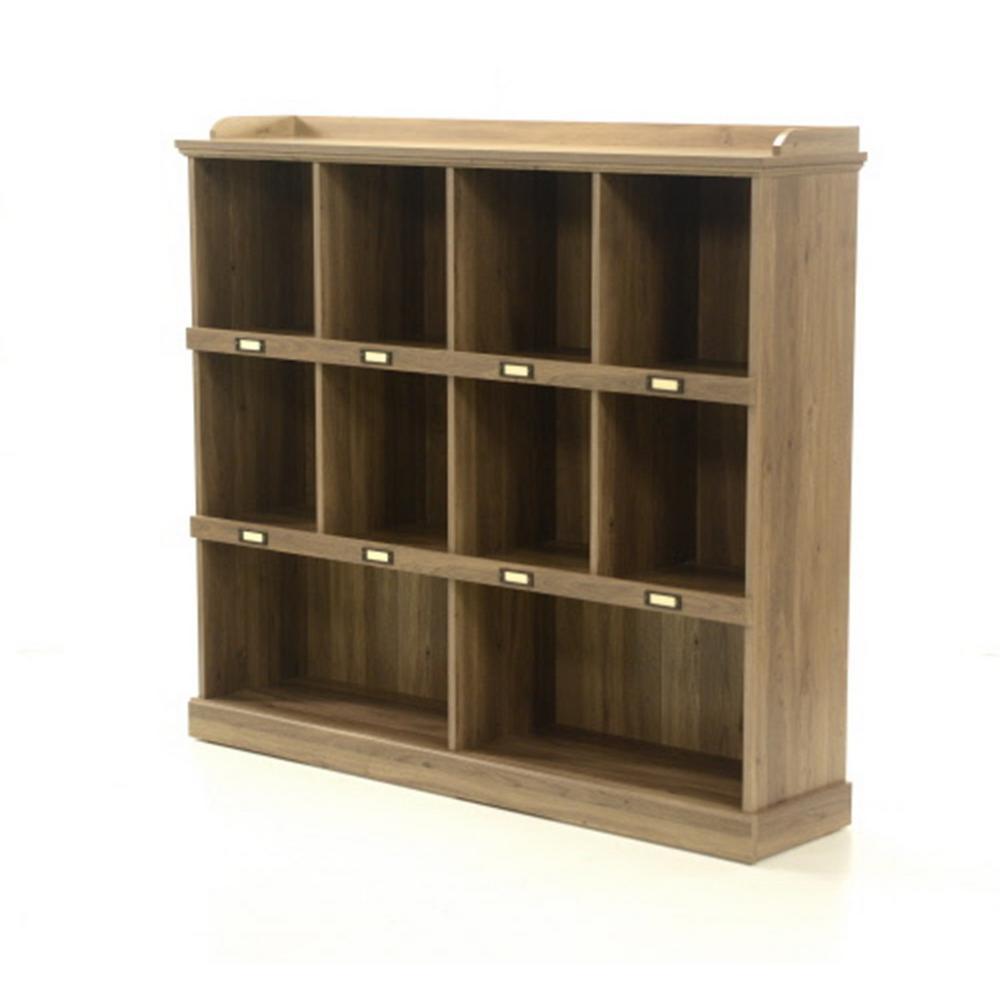 Sauder Barrister Lane Salt Oak Open Bookcase 414726 The Home Depot