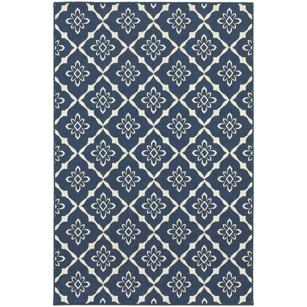 Odyssey Navy 7 ft. x 10 ft. Indoor/Outdoor Area Rug