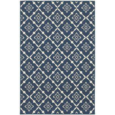 Odyssey Navy 9 ft. x 13 ft. Indoor/Outdoor Area Rug
