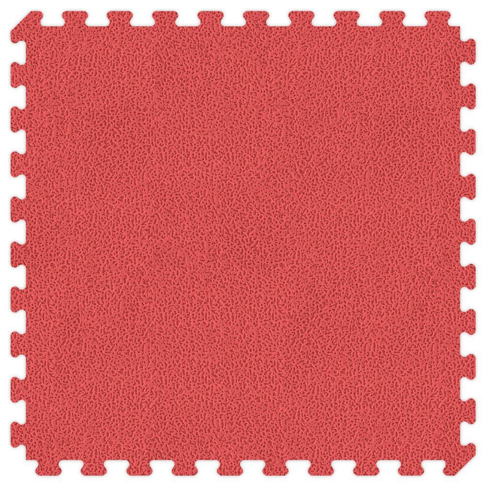 Groovy Mats Red and Royal Blue Reversible 24 in. x 24 in. Extra Thick Comfortable Mat (100 sq.ft. / Case)