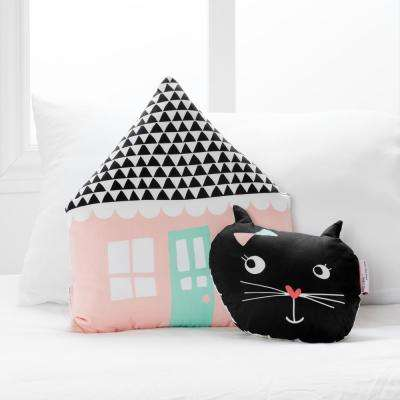 DreamIt Pink and Black Night Garden Throw Pillows (2-Pack)